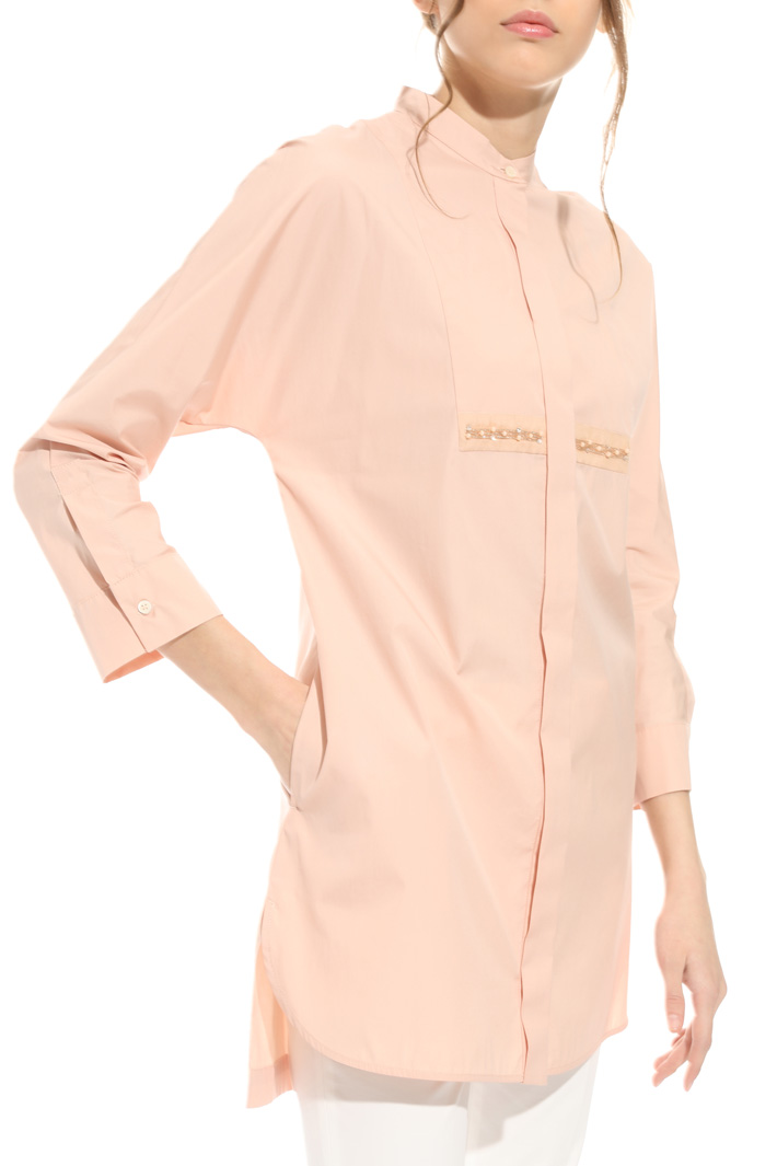Cotton shirt with embroidery Intrend