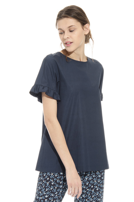 Cotton tunic with frills Diffusione Tessile