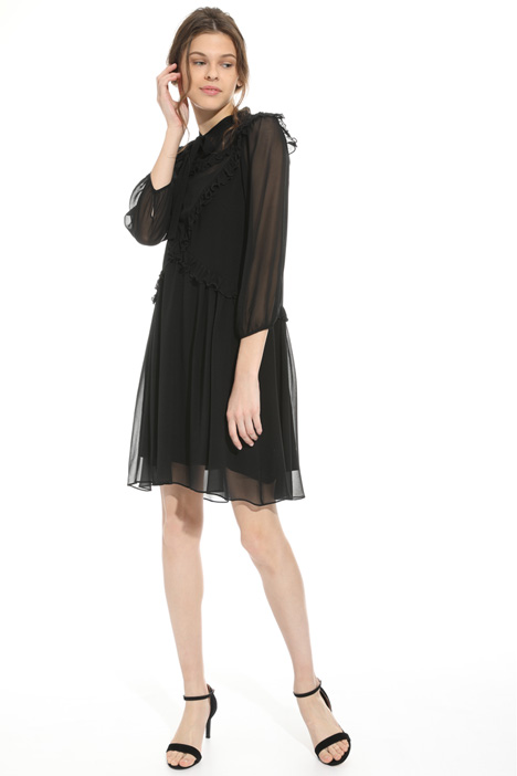 Flounced silk dress Intrend