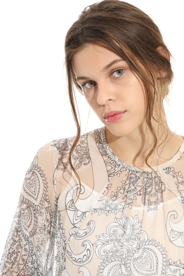 Printed silk dress Intrend