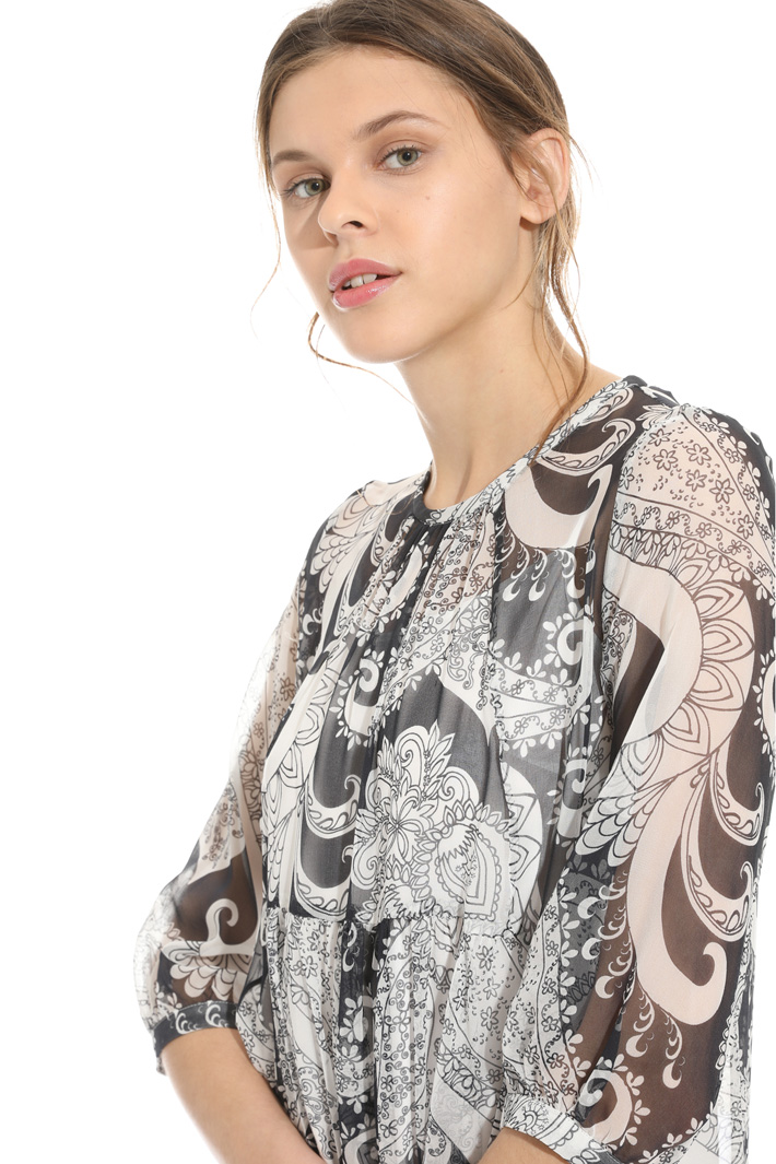 Printed silk dress Intrend