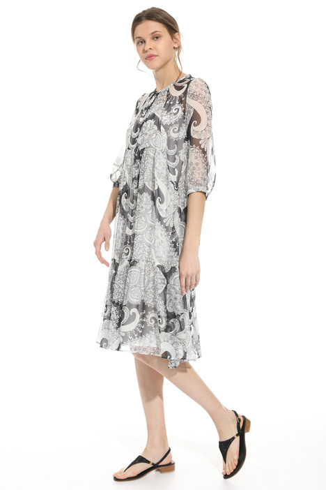 Printed silk dress Diffusione Tessile