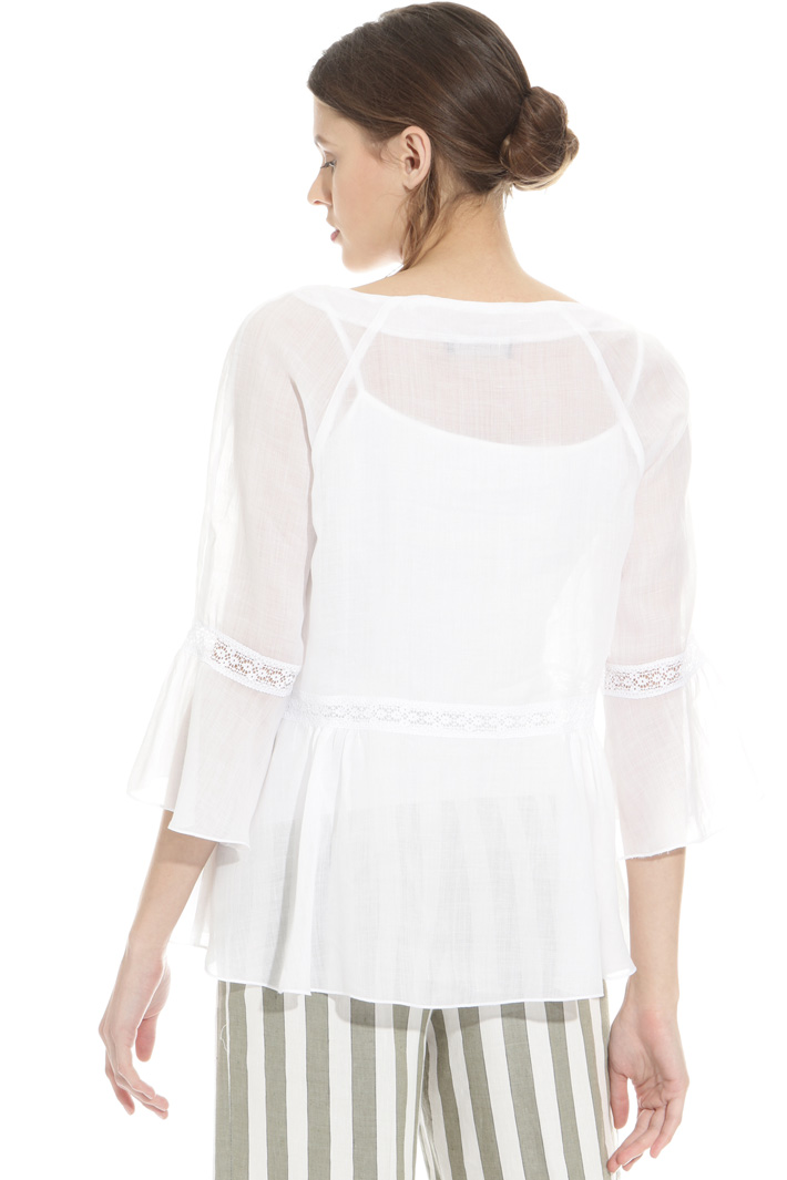 Lace ramie tunic Intrend