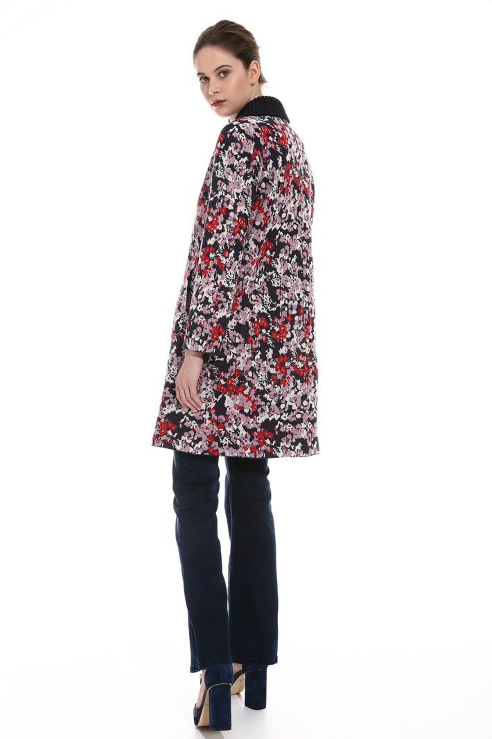 Jacquard knit coat Intrend