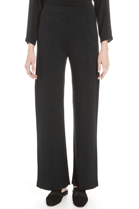 Lurex knit trousers Diffusione Tessile