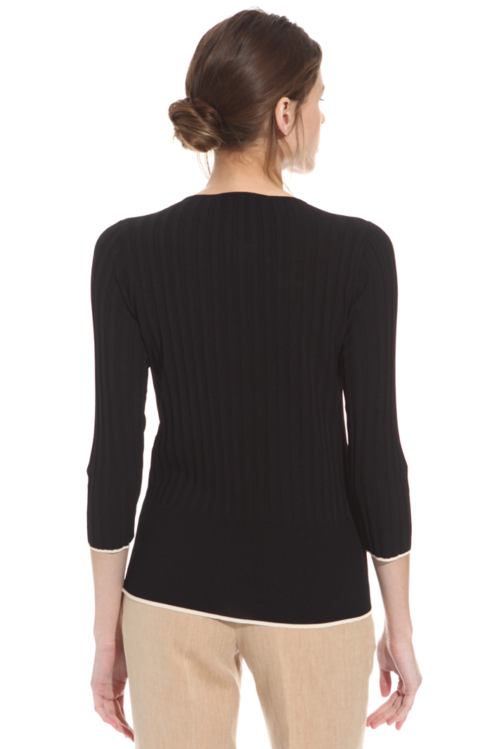Ribbed knit cardigan  Intrend
