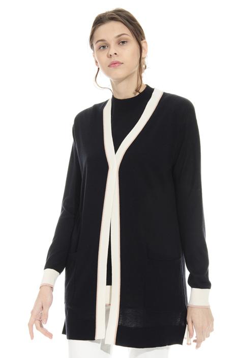 Cardigan in lana e seta Diffusione Tessile