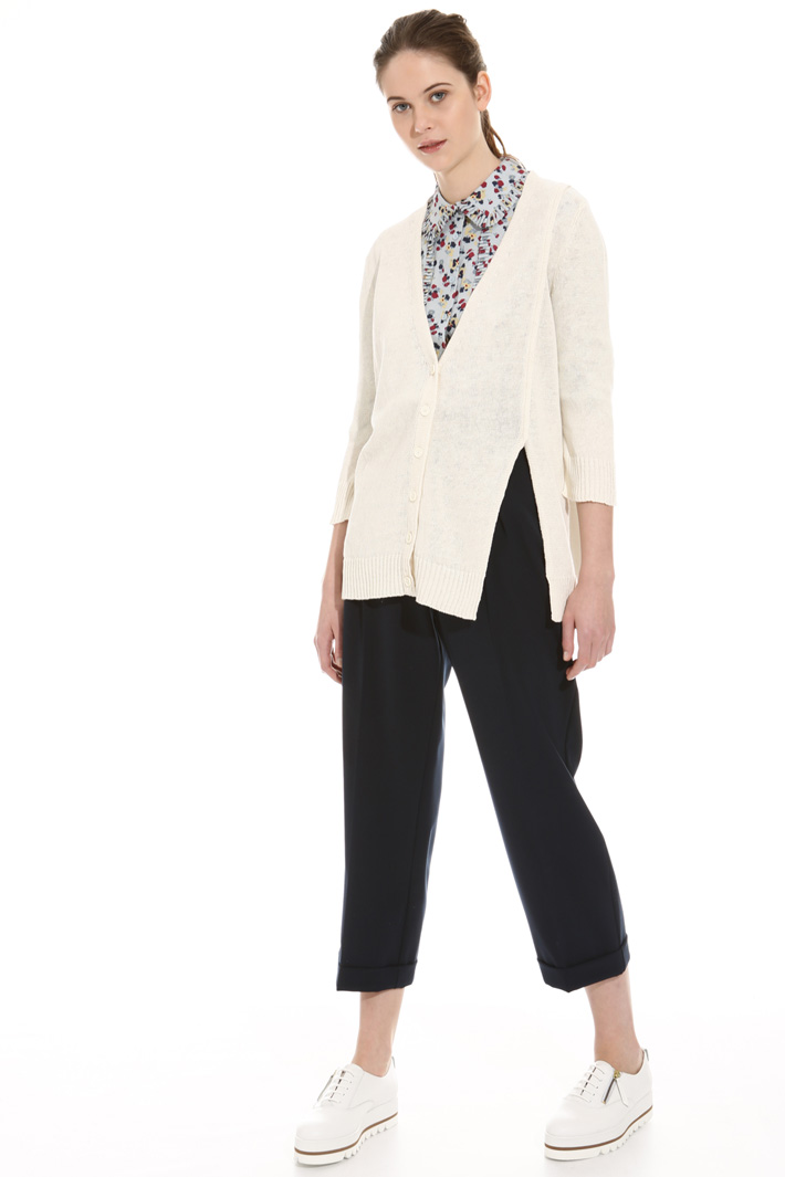 Cotton and linen cardigan Intrend