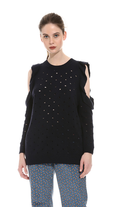 Perforated wool sweater Intrend