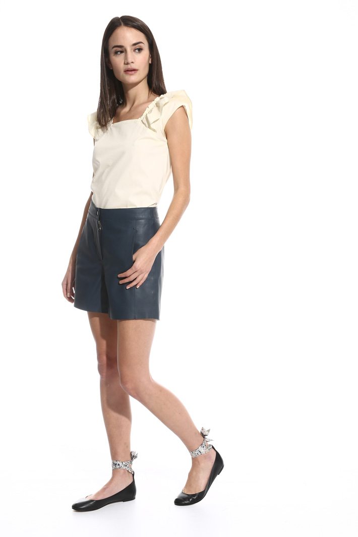 Nappa leather short trousers Intrend