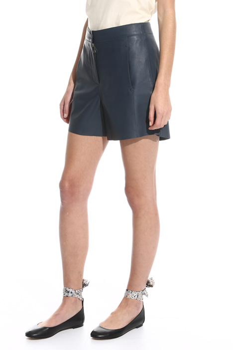 Nappa leather short trousers Diffusione Tessile