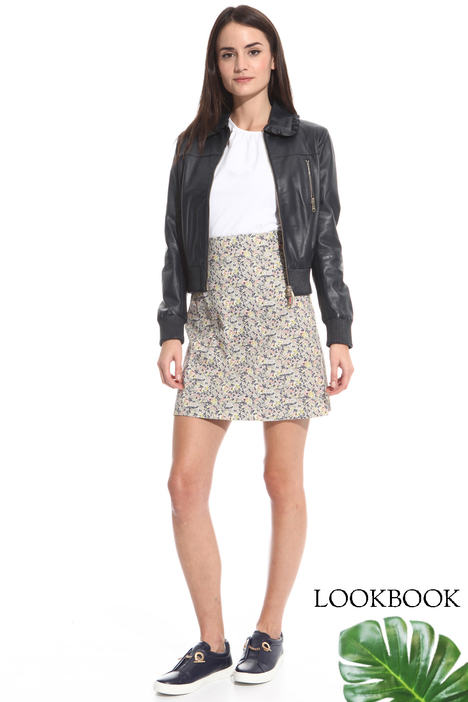 Giacca bomber in pelle Diffusione Tessile