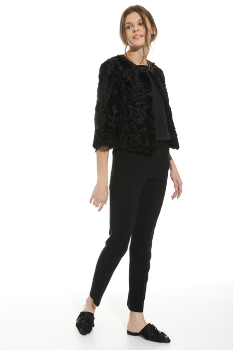Embroidered fur jacket   Intrend
