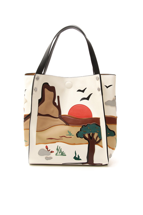 Shopper in similpelle Diffusione Tessile