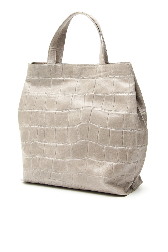 Crocodile print shopper bag Intrend