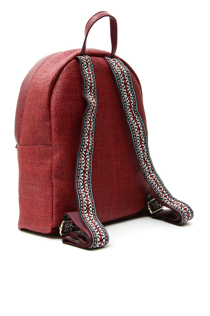 Woven paper backpack Intrend