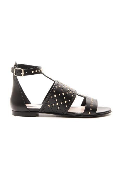 Sandalo flat con borchie Diffusione Tessile