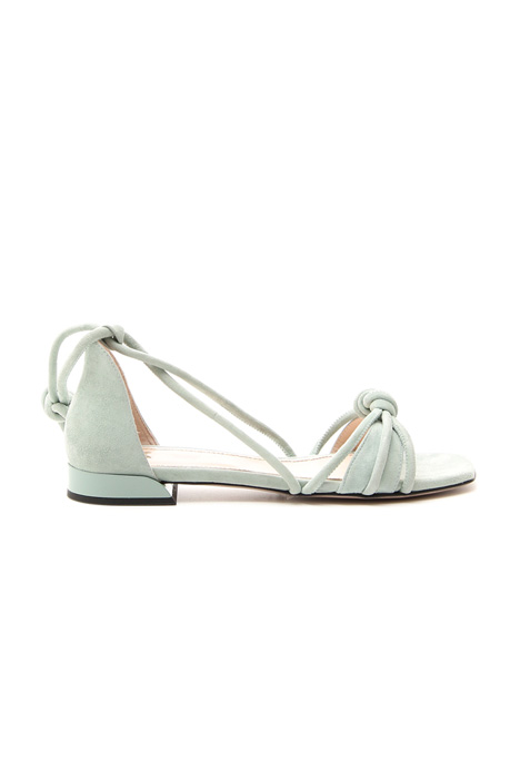Sandalo flat in camoscio Diffusione Tessile