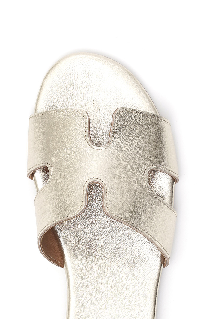 Metallic slippers Intrend