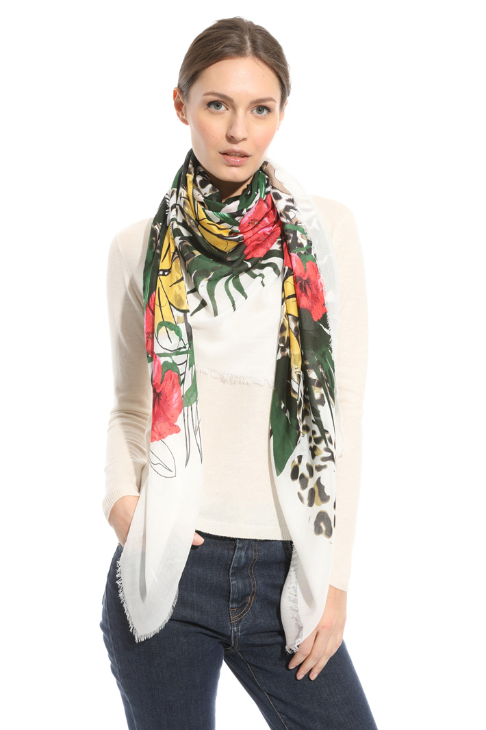 Printed squared scarf Intrend