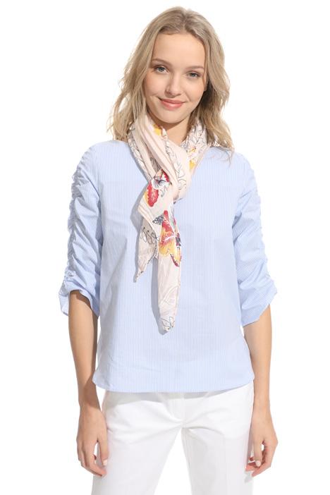 Asymmetrical silk blend scarf Diffusione Tessile