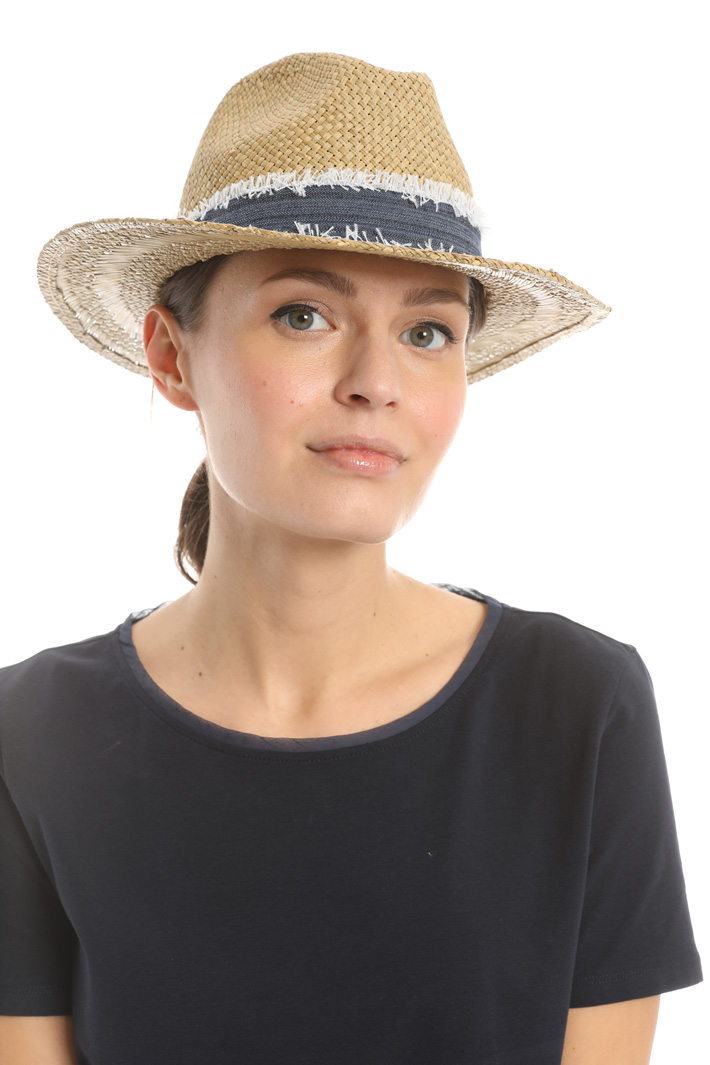 Woven paper fedora Intrend