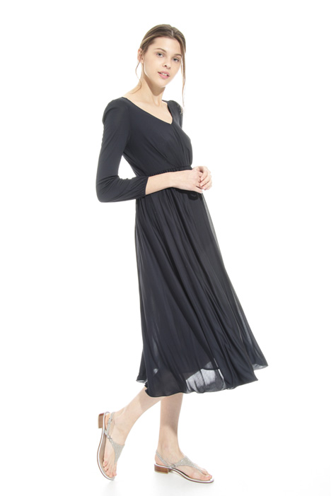 Fluid dress in viscose jersey Diffusione Tessile