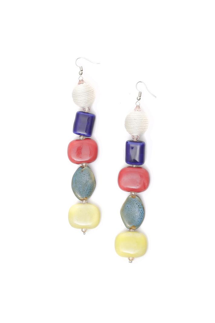 Multi-coloured drop earrings Intrend