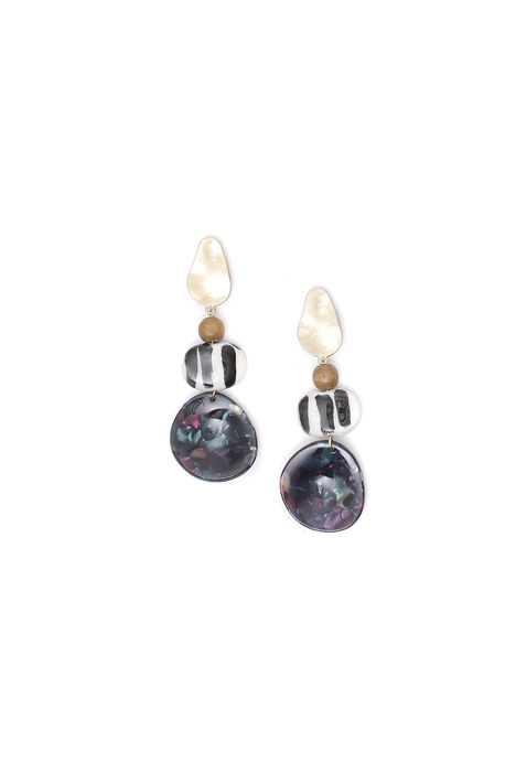Ceramic resin earrings Intrend