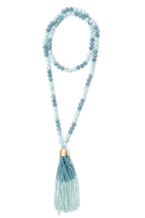 Multifaceted bead necklace Diffusione Tessile