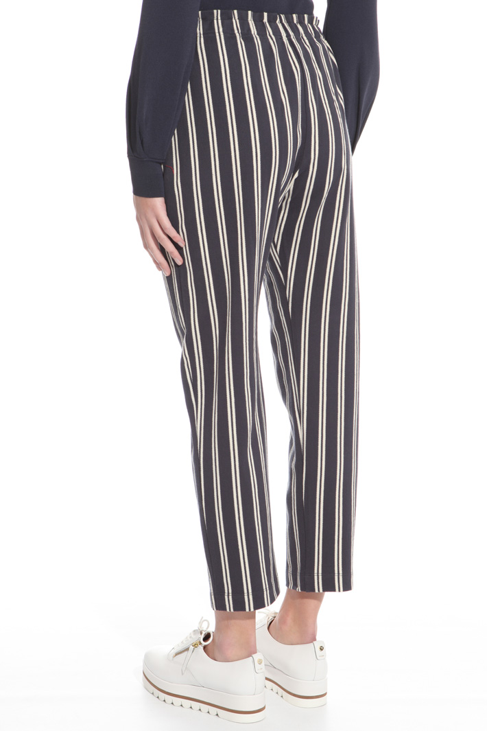 Pantalone in jersey chevron Intrend