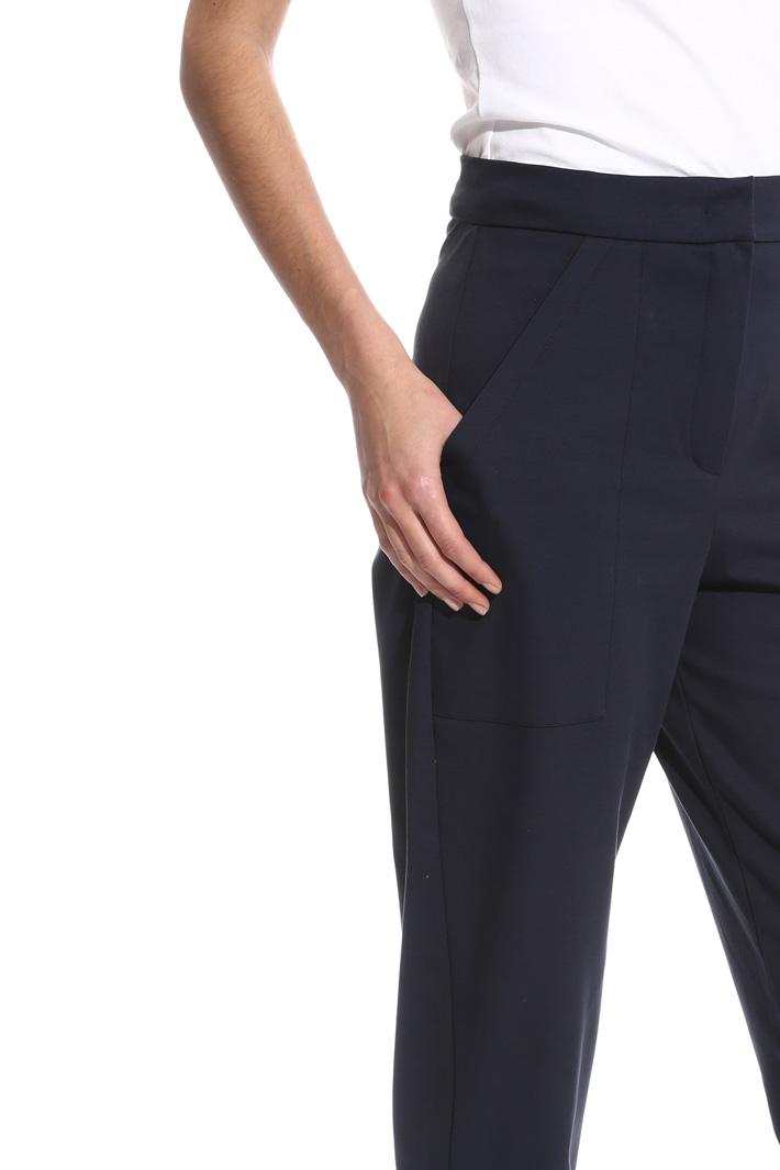 Pantalone carrot a vita alta Intrend