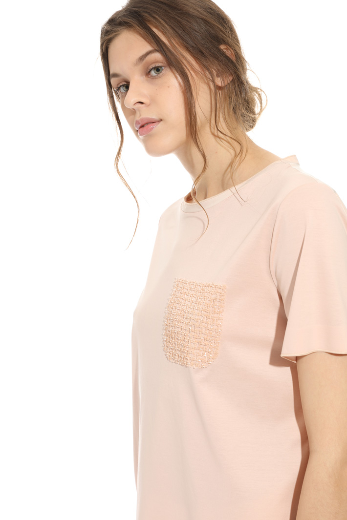 Embroidered cotton T-shirt Intrend