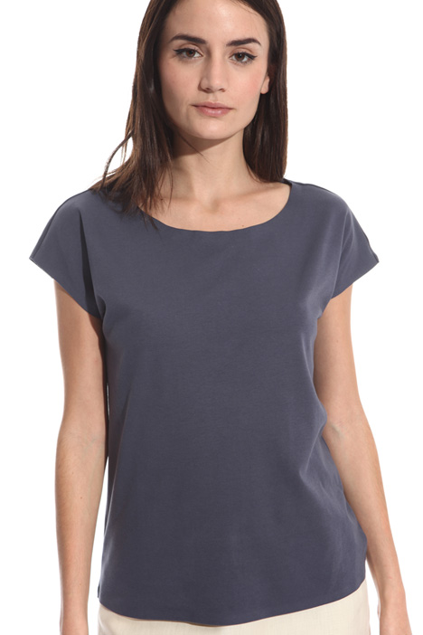T-shirt in jersey interlock Intrend