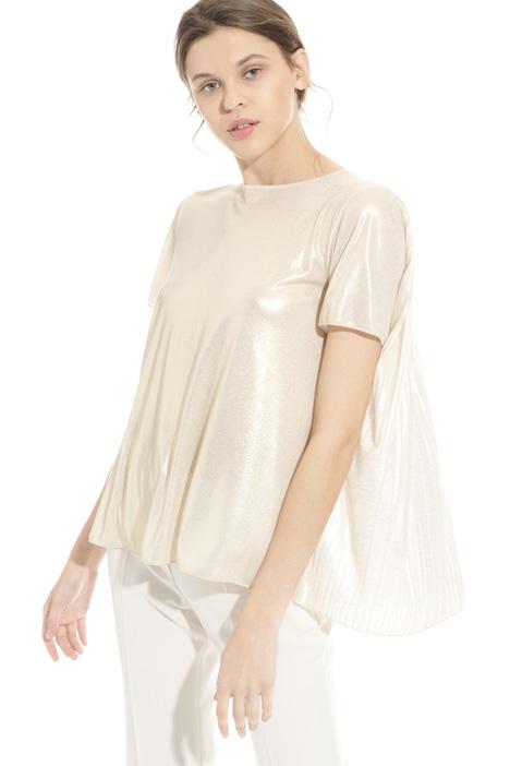 T-shirt con retro plissé Diffusione Tessile