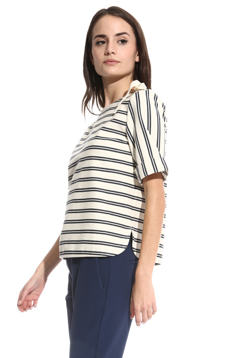 Jersey chevron T-shirt Intrend