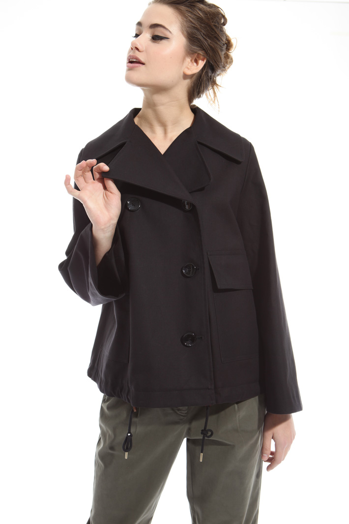 Double-layer pea coat Diffusione Tessile