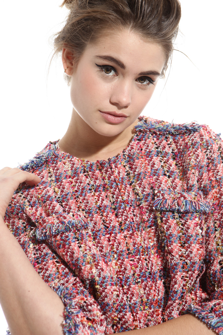 Boxy bouclé jacket Intrend