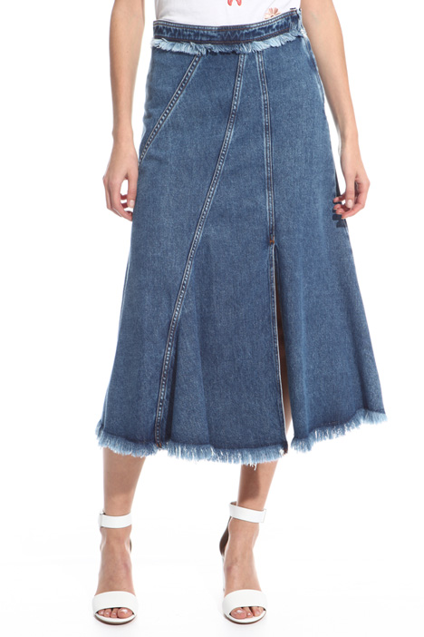 Fringed denim skirt Intrend