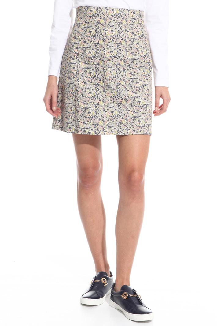 Cotton canneté skirt Intrend