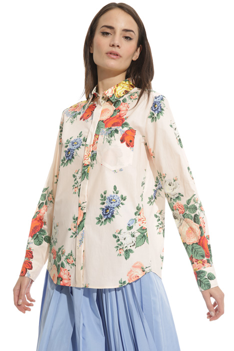 Printed poplin shirt Intrend