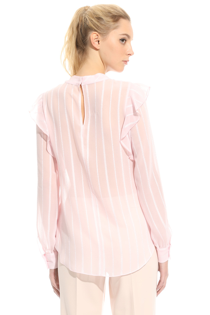 Blusa in crepe operata Intrend
