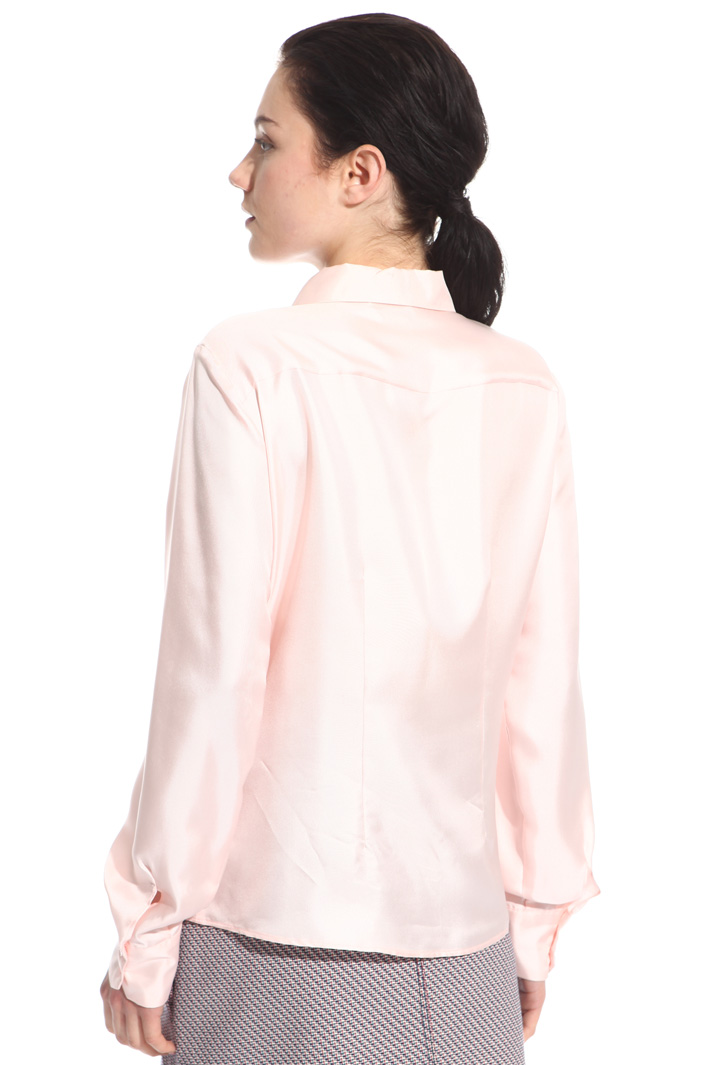 Camicia in twill di seta Intrend