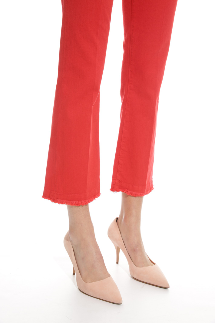 Fringed hem trousers Intrend