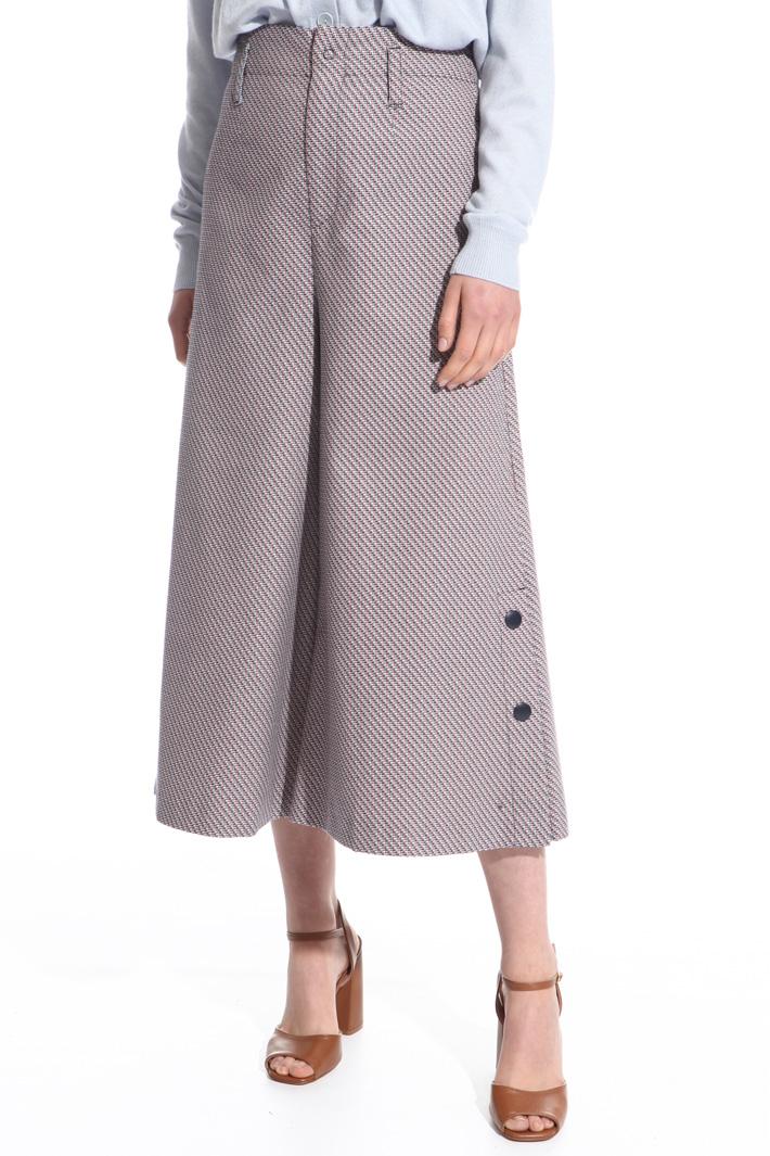 Pantalone cropped con bottoni Intrend
