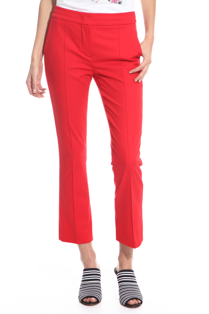 Textured cotton trousers Intrend