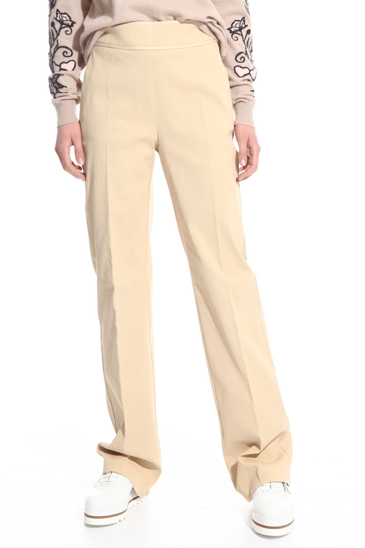 Pantalone in cotone cannetté Intrend