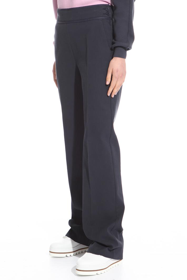 Cotton canneté trousers Intrend
