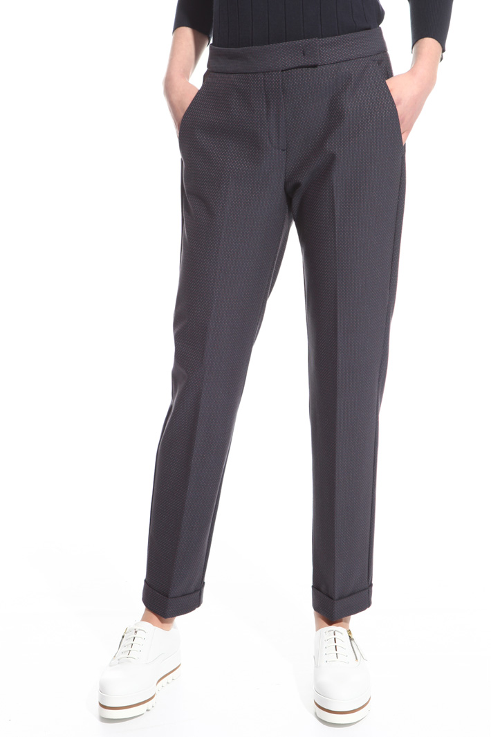 Pantaloni con micro fantasia Intrend