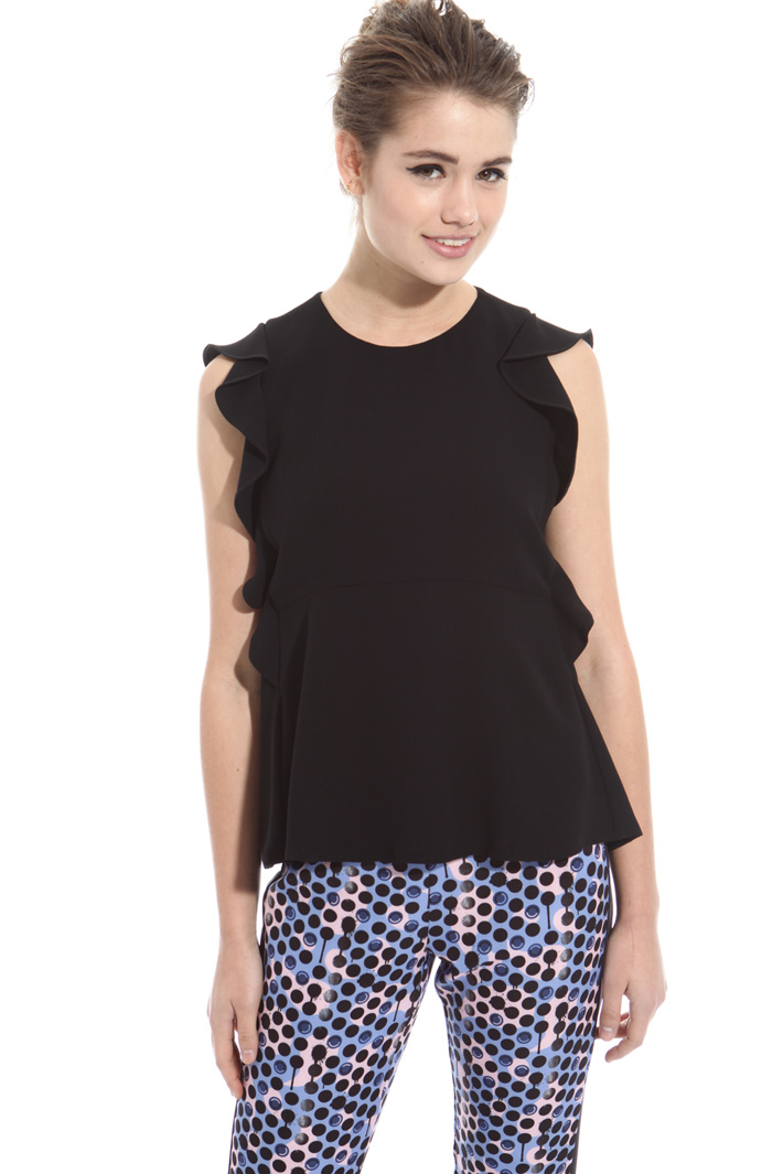 Top in sablé con ruches Intrend